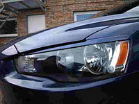 Реснички на фары Mitsubishi Lancer X 2007+ г.в.