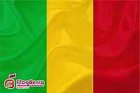 Флаг Мали 100*150 см.,флажная сетка.,2-х сторонняя печать