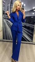 Женский брючный костюм двойка пиджак и брюки ft-274 синий