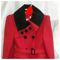 Пальто демисезонное для девочки 10-14 лет,''Валентинка''красное