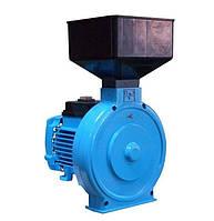Мощная зернодробилка молотковая ИКОР-02, электрический привод, 280*250*510 мм