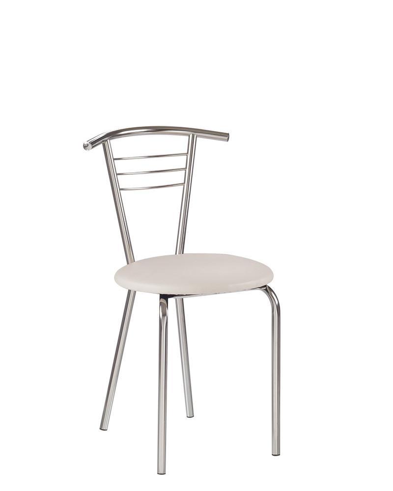 Стул барный хромированный с сиденьем Тина новый стиль
