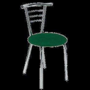 Стул барный хромированный с сиденьем Тина новый стиль, фото 2