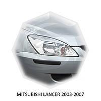 Реснички на фары Mitsubishi LANCER 2003-2007 г.в.  митсубиши лансер
