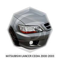 Реснички на фары Mitsubishi LANCER CEDIA 2000-2003 г.в. Митсубиси лансер сидеа