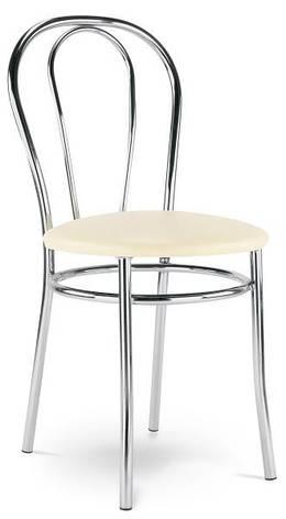 Стул барный хромированный с сиденьем Тюльпан Новый стиль, фото 2