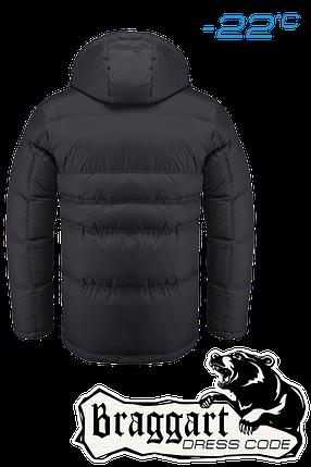 Черная мужская зимняя куртка Braggart арт. 1998, фото 2