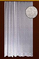 """Жаккардовый тюль """"Туманность"""" (белый), высота 250 см"""