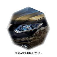 Реснички на фары Nissan X-TRAIL 2014+ г.в.