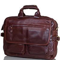 Практичная мужская сумка из натуральной кожи ETERNO (ЭТЭРНО) ET9937-10 коричневый