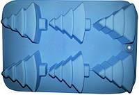 Силиконовая форма для выпечки Ёлки 6 штук Empire ЕМ 7184, 25*17 см