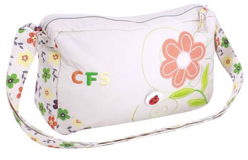 """Романтичная сумка через плечо на молнии 20x32x9 см. """"Spring Flower"""" Cool for school CF85242 белый"""
