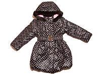 Курточка-пальто теплая для девочек 98-158, фото 1