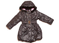 Курточка-пальто теплая для девочек 98-158