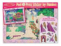 """Объемная наклейка по номерам """"Сказочная принцесса"""", Melissa&Doug"""