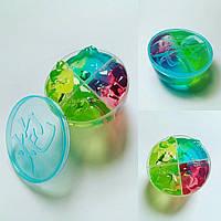 Лизун желе средний в пластиковой банке 4 цвета ароматизированный