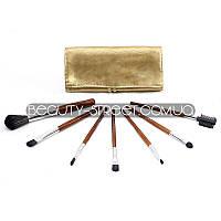 Набор кистей для макияжа МАС 7 штук в золотом чехле