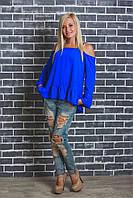 Стильная блуза женская электрик, фото 1