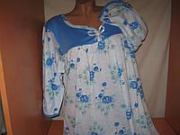 Женские ночные рубашки 100% узбекский хлопок, р.50-52 рукав три четверти