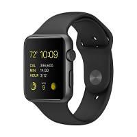 Apple Watch Sport 42mm Space Gray Aluminum Black Sport Band (MJ3T2)