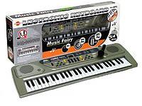 Детский музыкальный синтезатор с микрофоном MQ-806USB, MP3, USB, 54 динамичных клавиш, батарейки