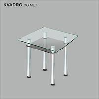 Стол обеденный стеклянный Квадро CG/мет