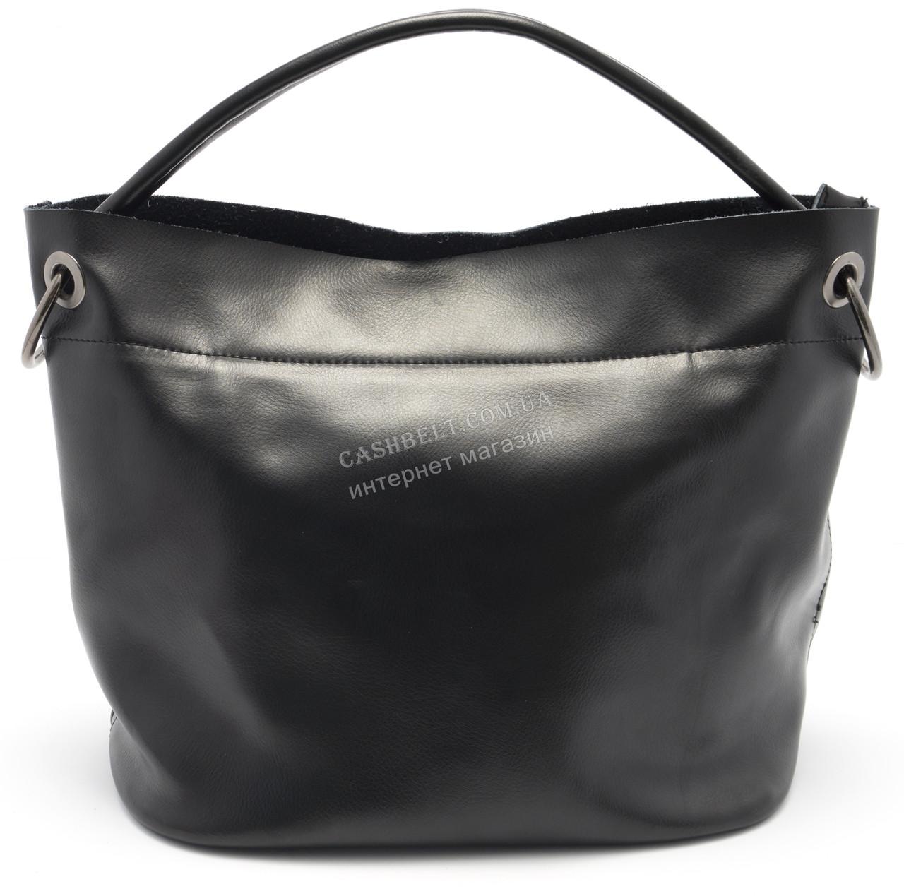 5165ccc23957 Стильная кожаная черная женская сумка SOLANA art. 99821 : продажа ...