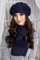 Зимний женский комплект «Фантастик» (берет и шарф)