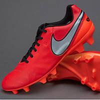 Футбольные бутсы Nike Tiempo Genio II FG Red