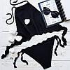 Трусы бикини на завязках  цвет черный размер S