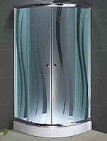 Душевая кабина SANTEH 1001R (100*100*1,95м) поддон 15см хром/ROLA
