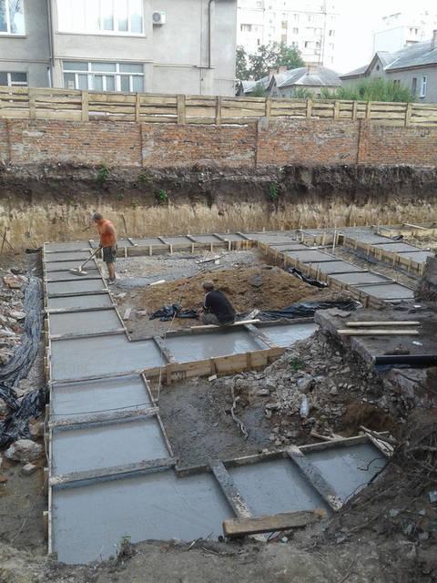 Финишная часть приемки бетона.