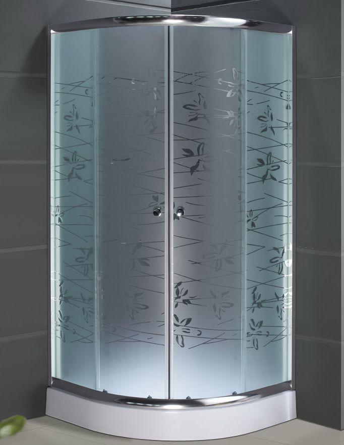Душевая кабина SANTEH 1001T (100*100*1,95м) поддон 15см хром/TATIANA