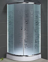 Душевая кабина SANTEH 9001T (90*90*1,95м) поддон 15см хром/TATIANA