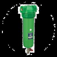 """Трёхэлементные корпуса фильтров 10"""" со спускным клапаном"""