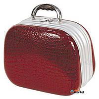 Сумки для парикмахера Hairway Чемодан Hairway 28553-17 искусственная кожа закругленный темно красный