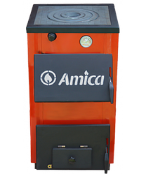 Твердотопливный стальной котел Amica Optima 14 P (с плитой)