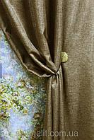 Шторы , портьеры (Мешковина) в цвете : орех