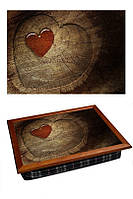 Поднос на подушке Сердце с дерева