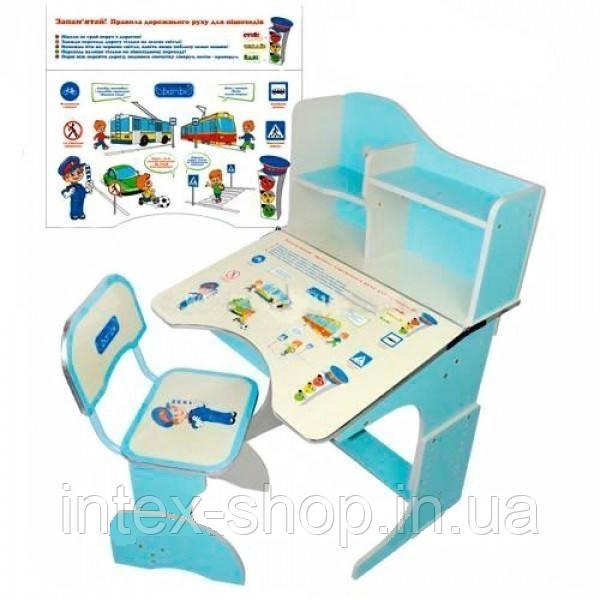 Дитяча парта зі стільчиком трансформер Bambi HB 2071-04 (стіл-парта04-растишка, 5 положень) КИЇВ