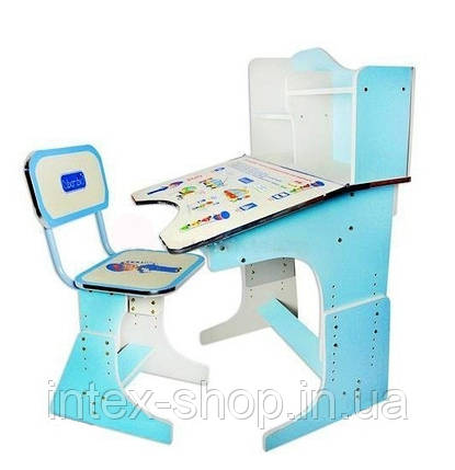 Дитяча парта зі стільчиком трансформер Bambi HB 2071-04 (стіл-парта04-растишка, 5 положень) КИЇВ, фото 2