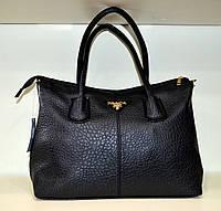 """Женская сумка  """"Valetta - Prada"""" черная через плечо"""
