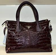 """Женская сумка  """"Valetta - Prada"""" коричневая через плечо"""