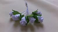 Роза тканевая для бутоньерок