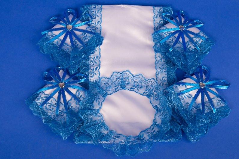 """Венчальный набор в церковь """"Венец любви"""" сине-белый"""