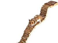 Лесенка деревянная для грызунов 48-56 см
