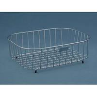 Металическая корзина Ukinox SB 370T из нержавеющей стали квадратной формы в кухонную мойку для мытья посуды и