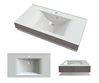 Умывальник белый в ванную комнату Буль-Буль Nadja 900C с отверстием под смеситель и переливом