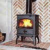 Печь камин чугунная DOVRE 760 GK на углях бежевая, фото 5