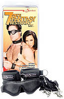 Набор 7 Pc Fantasy Restraint Kit — Black